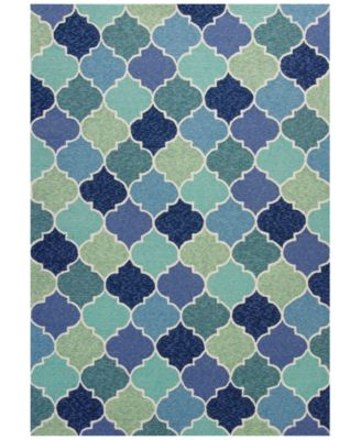 Harbor Stella 4231 Blue 2' x 3' Indoor/Outdoor Area Rug