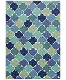 KAS Harbor Stella 4231 Blue 2' x 3' Indoor/Outdoor Area Rug