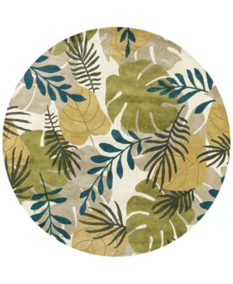 "Havana Breeze 2637 Ivory 7'6"" Round Area Rug"