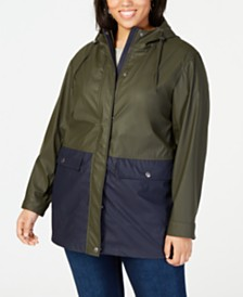 Levi's Trendy Plus Size Colorblocked Rain Jacket