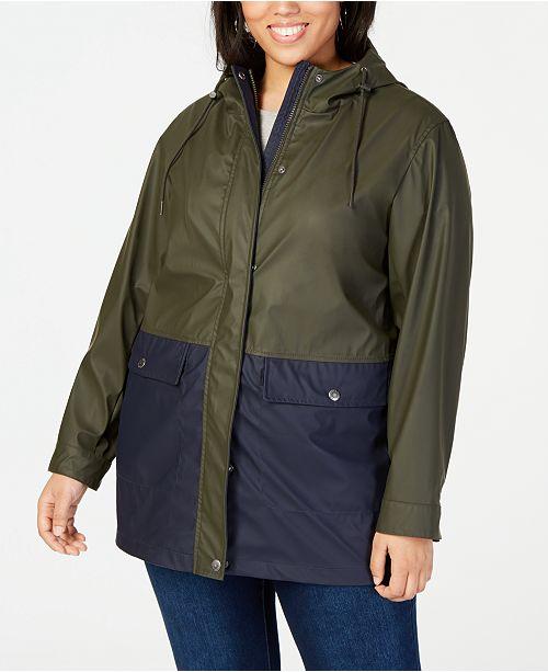 81525c77b08 Levi s Plus Size Colorblocked Rain Jacket - Coats - Plus Sizes - Macy s