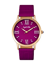 Sophie and Freda Quartz Sonoma Genuine Leather Watches 36mm