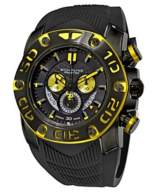 Original Black IPb Case, Black Dial, Black and Yellow Bezel, and Black High Grade Silicon Rubber Strap