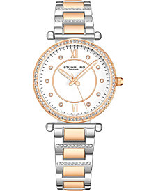 Stuhrling Original Women's Crystal Studded Case and Bracelet Watch