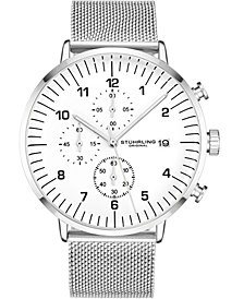 Stuhrling Original Men's Mesh Bracelet, Chrono Watch