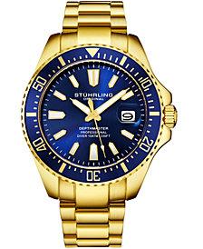 Stuhrling Original Men's Diver Bracelet Watch