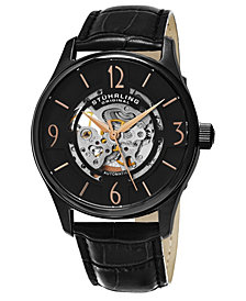 Stuhrling Original Men's Skeleton Automatic Watch