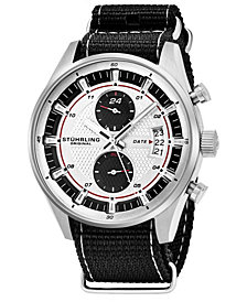 Stuhrling Original Men's Quartz Date Dual Time Watch