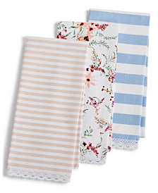 Martha Stewart Collection Pastel Kitchen Towels, Set of 3, Created for Macy's