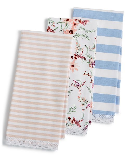 Martha Stewart Kitchen Towels: Martha Stewart Collection Pastel Kitchen Towels, Set Of 3