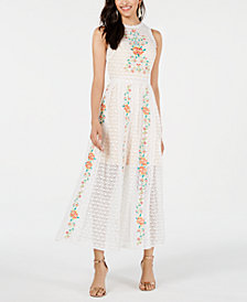 foxiedox Embroidered Lace Dress