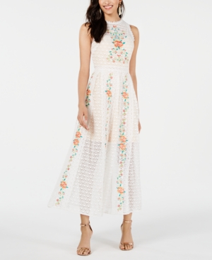 Foxiedox Dresses FOXIEDOX EMBROIDERED LACE DRESS