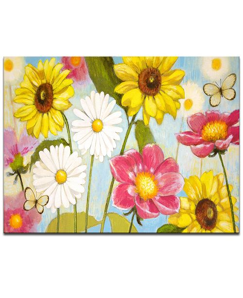 "Ready2HangArt 'Wonderful Day' Floral Canvas Wall Art - 20"" x 30"""
