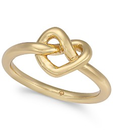kate spade new york Gold-Tone Love Knot Ring