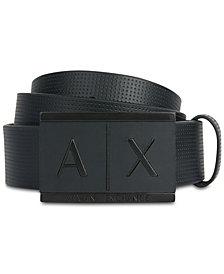 A X Armani Exchange Men's Plaque-Style Belt