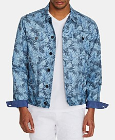 Tallia Men's Slim-Fit Stretch Leaf Trucker Jacket