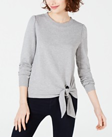 Maison Jules Waist-Tie Top, Created for Macy's