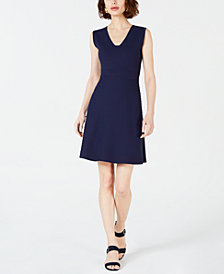 Maison Jules Sleeveless Sweater Fit & Flare Dress, Created for Macy's