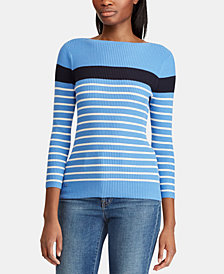 Lauren Ralph Lauren Striped Ribbed Sweater