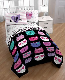 Limited Too R U Kitten Me 3 Piece Twin Sheet Set