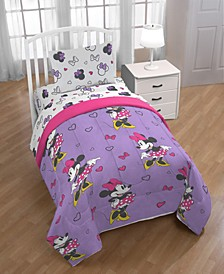 Minnie Mouse Purple Love Twin Comforter
