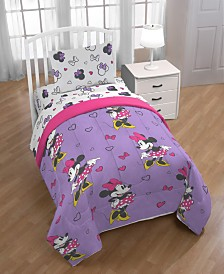Disney Minnie Mouse Purple Love Twin Comforter