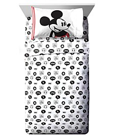 Mickey Mouse 3 Piece Twin Sheet Set