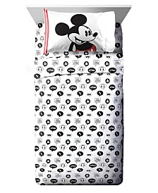 Disney Mickey Mouse 3 Piece Twin Sheet Set