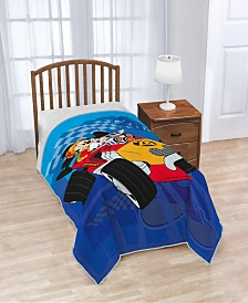 Disney Mickey Mouse Clubhouse Roadster Racer Plush Twin Blanket