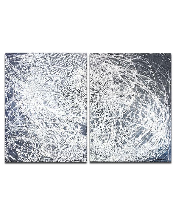 "Ready2HangArt 'Jean String' 2 Piece Abstract Canvas Wall Art Set - 30"" x 40"""