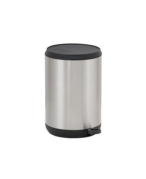 Household Essentials Stainless Steel 5L Taos Round Step Trash Bin