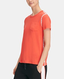 DKNY Sport Logo-Stripe Top, Created for Macy's