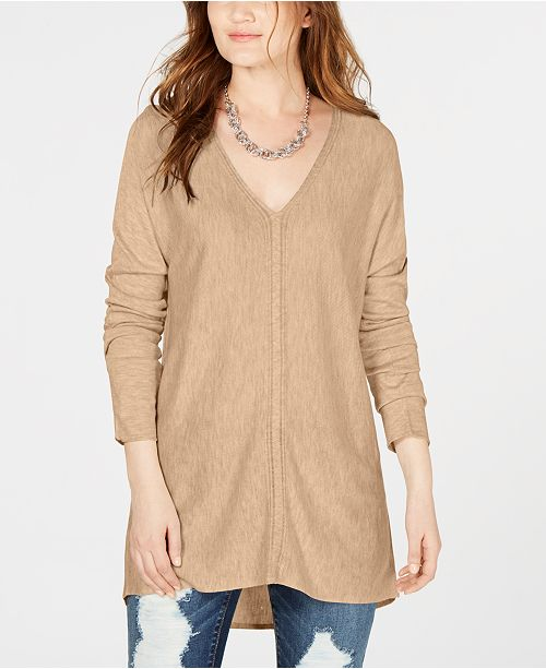 INC International Concepts I.N.C. V-Neck Sweater Tunic, Created for Macy's