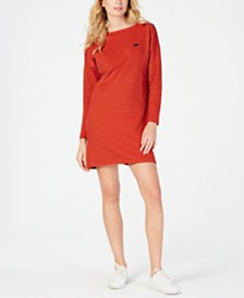 Lacoste Boat-Neck Striped Dress