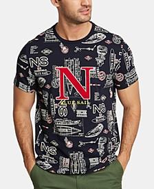 Nautica Men's Big & Tall Blue Sail Logo Graphic T-Shirt, Created for Macy's