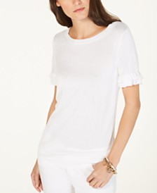 MICHAEL Michael Kors Ruffle-Sleeve Top, in Regular & Petite Sizes