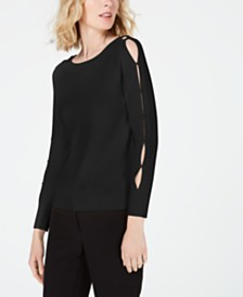 Anne Klein Split-Sleeve Sweater