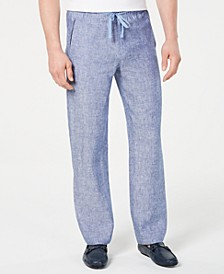 Men's Drawstring Linen Pants, Created for Macy's