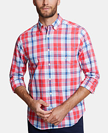 Nautica Men's Blue Sail Classic-Fit Performance Stretch Plaid Shirt, Created for Macy's
