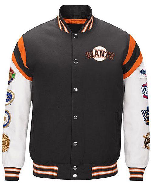 ca99923e4 ... G-III Sports Men s San Francisco Giants Home Team Commemorative Varsity  Jacket ...