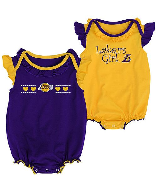 99e724f02529 ... Outerstuff Los Angeles Lakers Creepers 2 Pack Set
