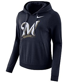 Nike Women's Milwaukee Brewers Club Pullover Hoodie