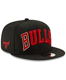 Chicago Bulls Enamel Script 9FIFTY Snapback Cap