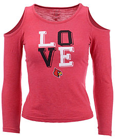 Wes & Willy Louisville Cardinals Cold Shoulder Long Sleeve T-Shirt, Girls (4-7)