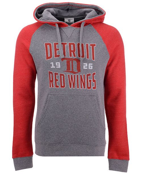 Majestic Men's Detroit Red Wings Antique Tri-Blend Hoodie