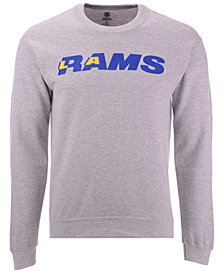 Authentic NFL Apparel Men's Los Angeles Rams Gunslinger Crew Neck Sweatshirt