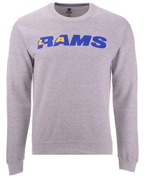 bb3ffe00 Authentic NFL Apparel Men's Los Angeles Rams Gunslinger Crew Neck ...