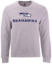 Authentic NFL Apparel Men's Seattle Seahawks Gunslinger Crew Neck Sweatshirt