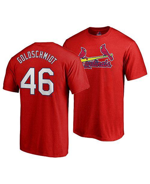 quality design 8fcb0 7d32d Men's Paul Goldschmidt St. Louis Cardinals Official Player T-Shirt