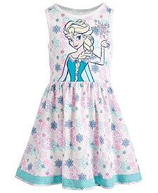 Disney Little Girls Snowflake-Print Elsa Dress
